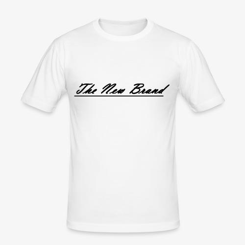 The New Brand logo black on white - Mannen slim fit T-shirt