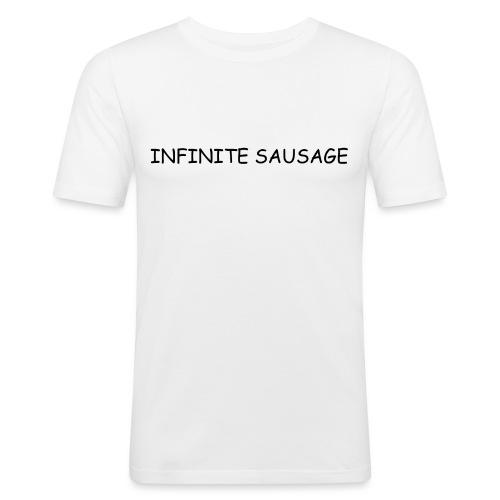 INFINITE SAUSAGE - Mannen slim fit T-shirt