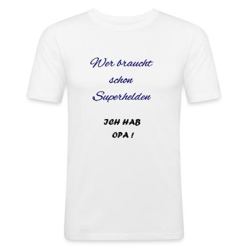Ich hab Opa Spruch - Männer Slim Fit T-Shirt