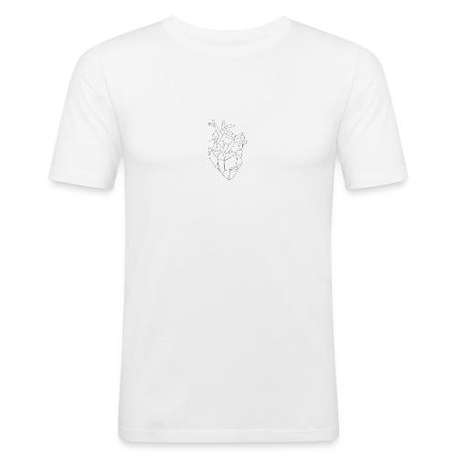 FNS - Coque Coeur - T-shirt près du corps Homme