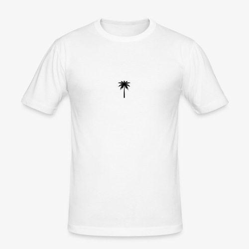 Palm -White - Herre Slim Fit T-Shirt
