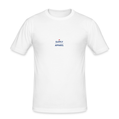 Plain EST logo design - Men's Slim Fit T-Shirt