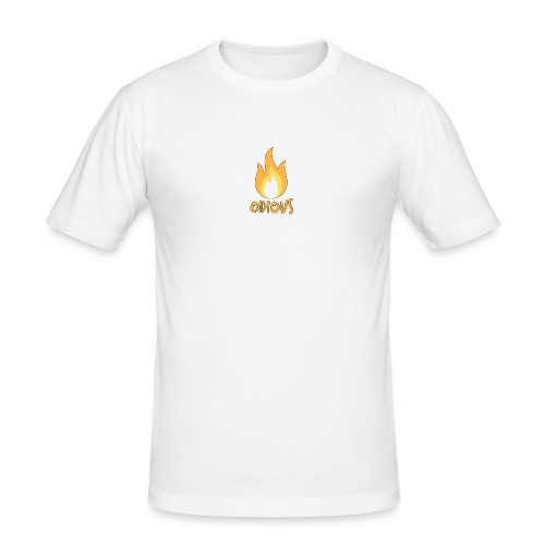 odious flame outlined - Mannen slim fit T-shirt