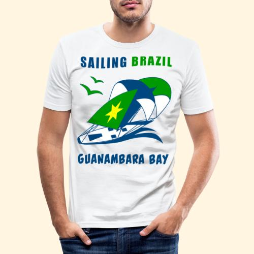 Sailing Brazil - Men's Slim Fit T-Shirt