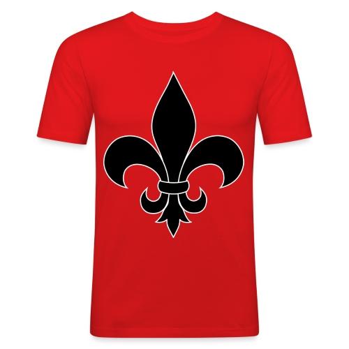 ranskan lilja - Miesten tyköistuva t-paita
