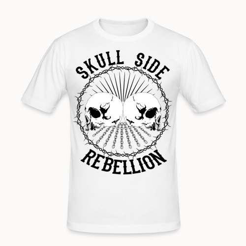 Skull side rebellion - Männer Slim Fit T-Shirt