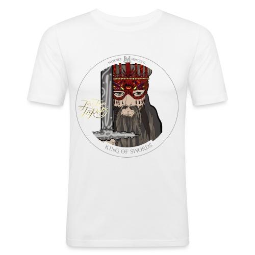 King of Swords | König der Schwerter Tarot Karte - Männer Slim Fit T-Shirt