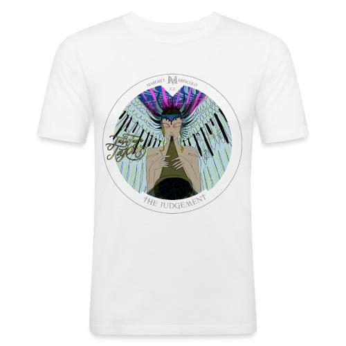 The Judgement | Das Gericht Tarot Karte rund - Männer Slim Fit T-Shirt