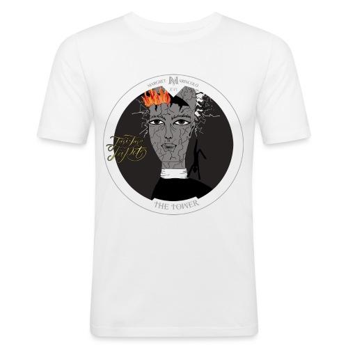 The Tower | Der Turm Tarot Karte - Männer Slim Fit T-Shirt
