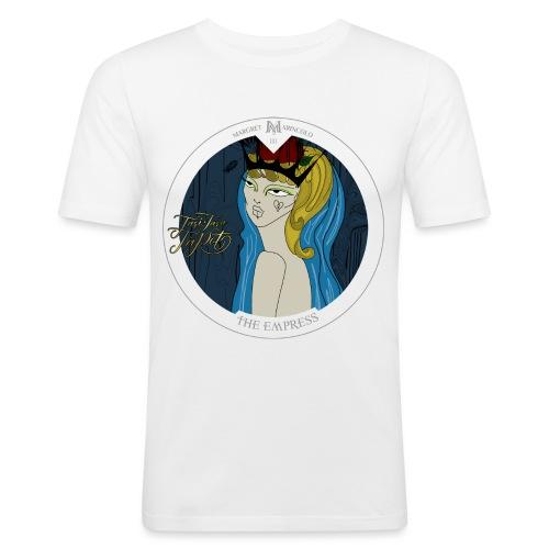The Empress | Die Herrscherin Tarot Karte rund - Männer Slim Fit T-Shirt