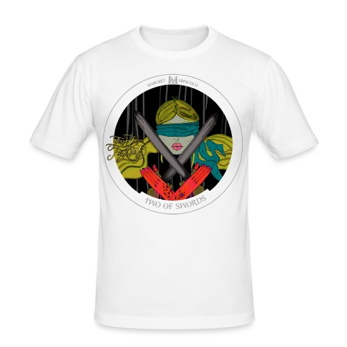 Two of Swords | Zwei der Schwerter Tarot Karte - Männer Slim Fit T-Shirt
