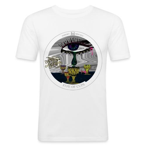 Five of Cups   Fünf der Kelche Tarot Karte - Männer Slim Fit T-Shirt