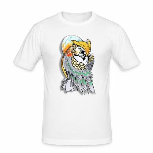 Cosmic owl - Camiseta ajustada hombre