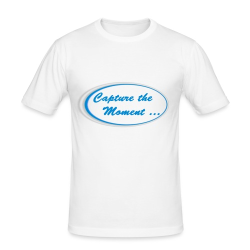 Logo capture the moment - Men's Slim Fit T-Shirt