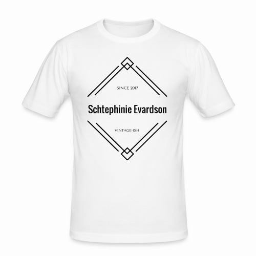 Vintage Schtephinie Evardson - Men's Slim Fit T-Shirt