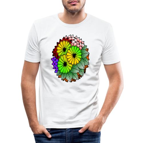 Mandala Blumen Design - Männer Slim Fit T-Shirt