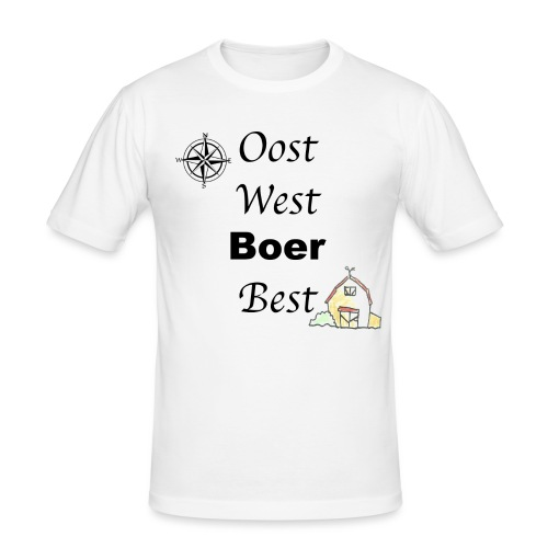 Oost West Boer Best - Mannen slim fit T-shirt