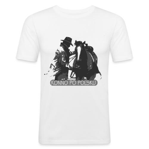 horse2 - Obcisła koszulka męska