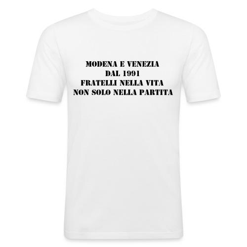 Gemellaggio Modena Venezia - Maglietta aderente da uomo
