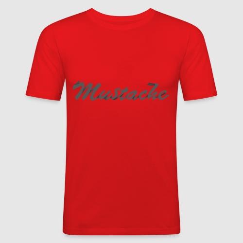 Black Lettering - Men's Slim Fit T-Shirt