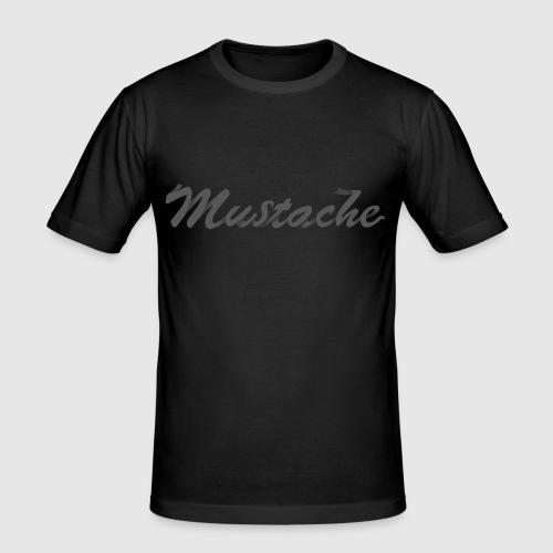 Black Lettering - Men's Slim Fit T-Shirt