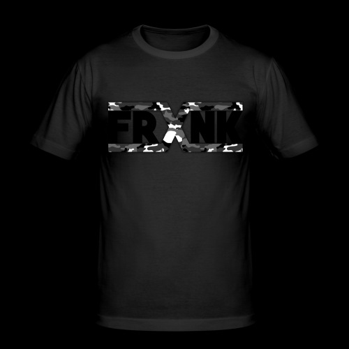 Grey Camo 'FRXNK' Logo - Men's Slim Fit T-Shirt