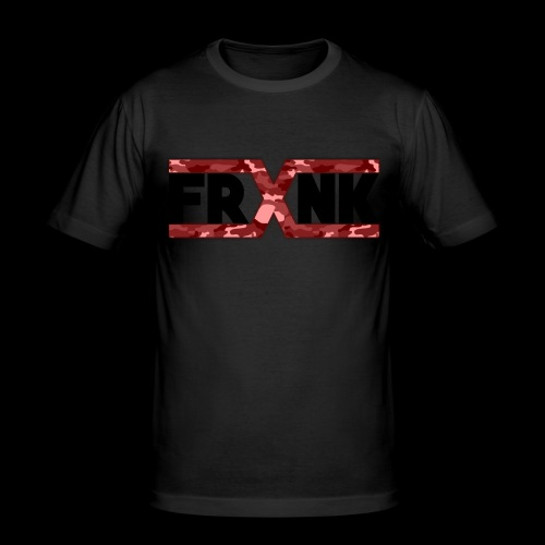 Red Camo 'FRXNK' Logo - Men's Slim Fit T-Shirt