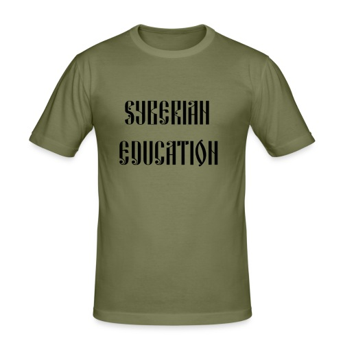 Russia Russland Syberian Education - Men's Slim Fit T-Shirt