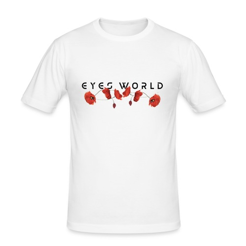 Eyes world flower - T-shirt près du corps Homme