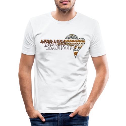 Afro Lova Savane - T-shirt près du corps Homme