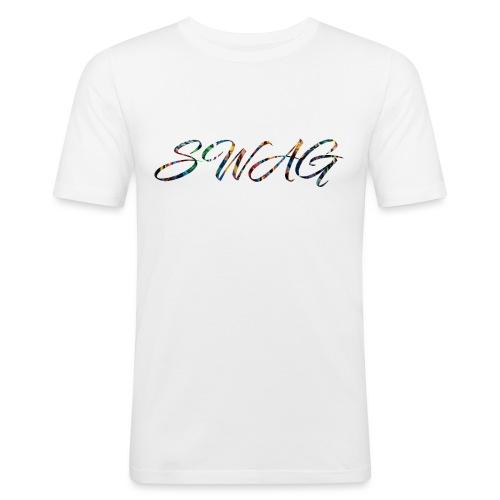 Texte 'Swag' - T-shirt près du corps Homme