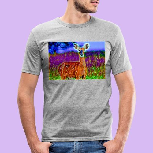 Cerbiatto con magici effetti - Maglietta aderente da uomo