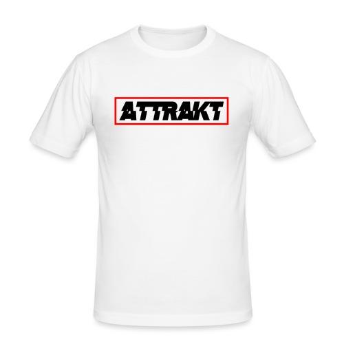 attrakt black text - Men's Slim Fit T-Shirt