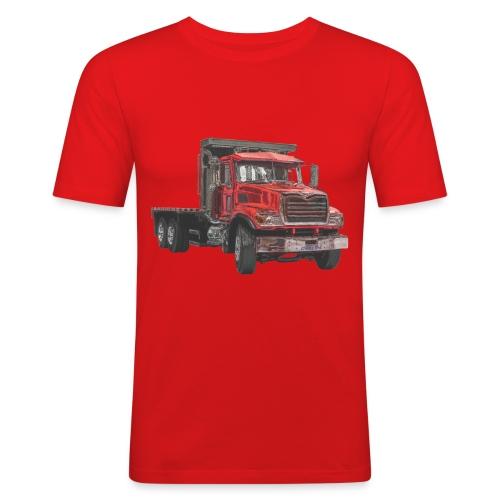 Flat Truck 3-axle - Red - Men's Slim Fit T-Shirt