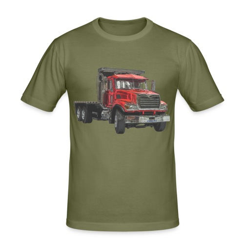 Flat Truck 3-axle - Red - Men's Slim Fit T-Shirt