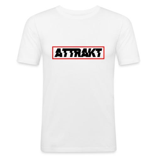 attrakt black text - Men's Slim Fit T-Shirt