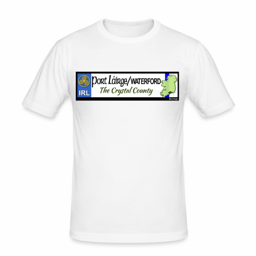 WATERFORD, IRELAND: licence plate tag style decal - Men's Slim Fit T-Shirt