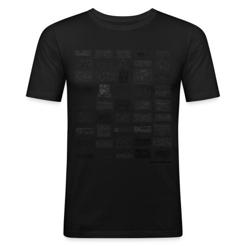 Synth Evolution T-shirt - White - Men's Slim Fit T-Shirt