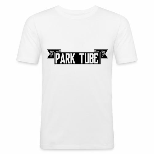 ParkTube Banner schwarz - Männer Slim Fit T-Shirt