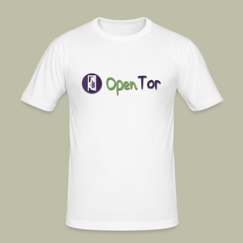 OpenTor Badge - Men's Slim Fit T-Shirt