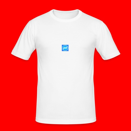 pd Blue V2 - Herre Slim Fit T-Shirt