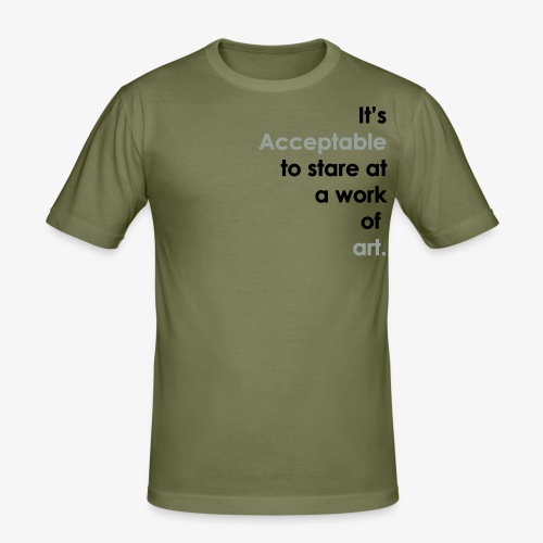 itsacceptable - Men's Slim Fit T-Shirt