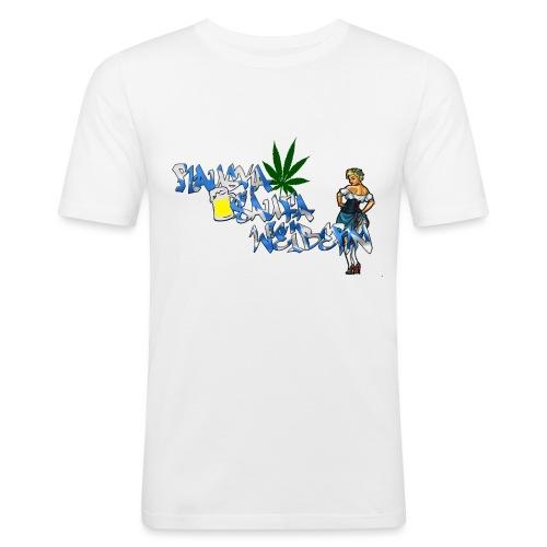 Raugka Saufa Weibern - Männer Slim Fit T-Shirt