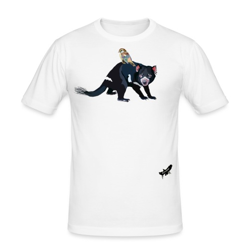Hitching a Ride on the Devil by BlackenedMoonArts - Herre Slim Fit T-Shirt