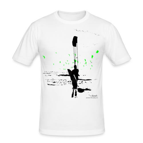 Standingsurfer black-green - Männer Slim Fit T-Shirt