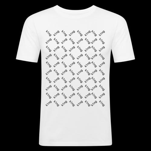 k1ng Muster - Männer Slim Fit T-Shirt