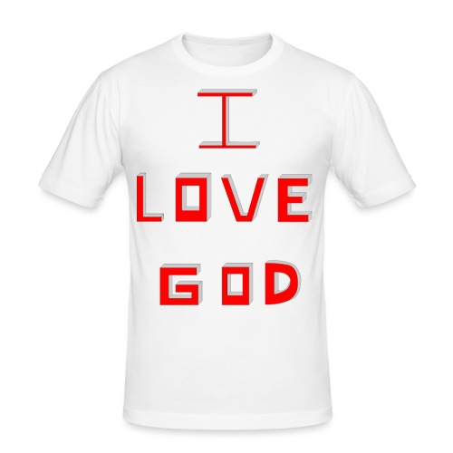 I LOVE GOD - Camiseta ajustada hombre