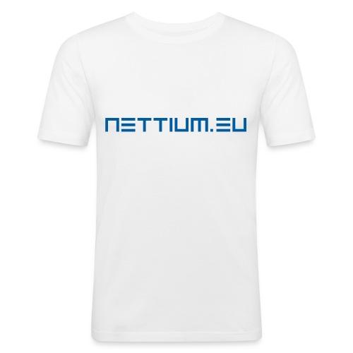 Nettium.eu logo blue - Men's Slim Fit T-Shirt