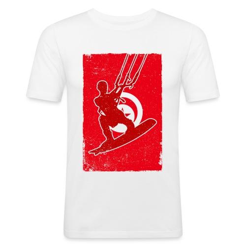 Kitesurfer Tunisia - Männer Slim Fit T-Shirt