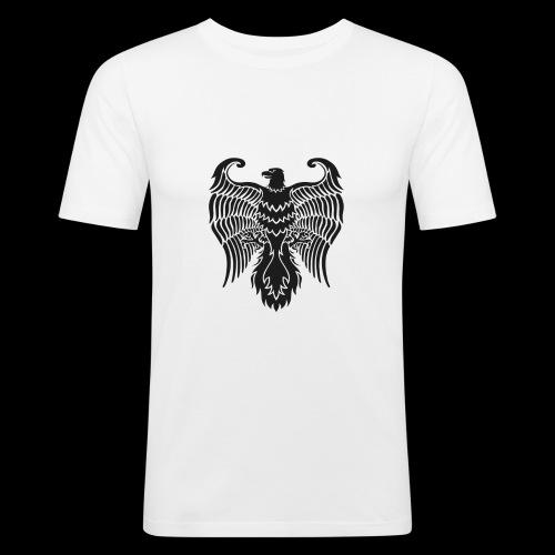 HAUKKA ei tekstia - Miesten tyköistuva t-paita